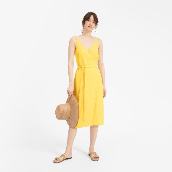 Womens Japanese Goweave Tank Wrap Dress Everlane