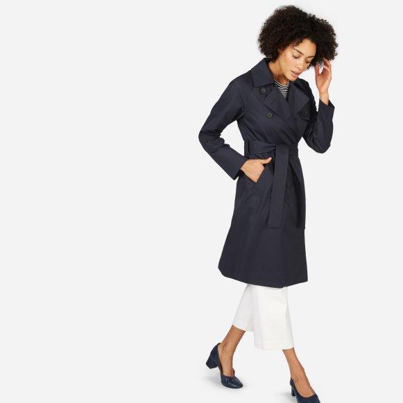 novashe drape belt fashion women com coat s drapes front with draped trench open coats