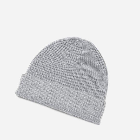The Chunky Wool Beanie in Grey 7c0e4910a06