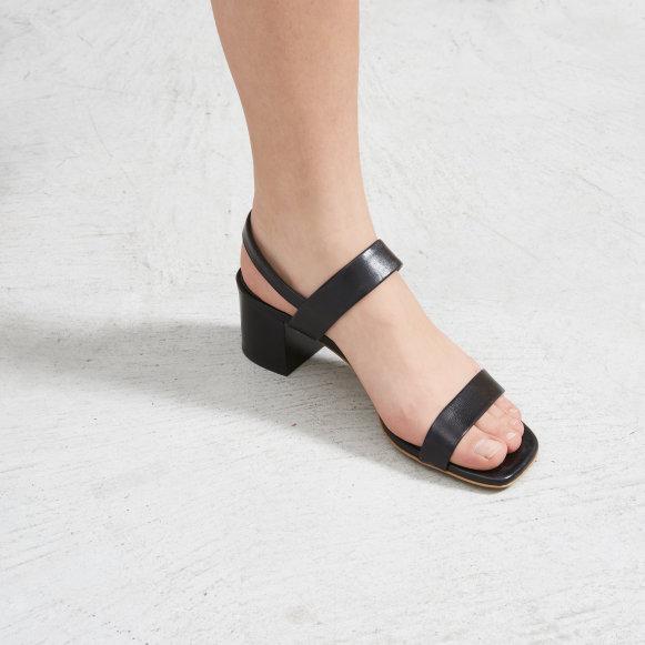 45a745fefb4 The Double Strap Block Heel Sandal in Black