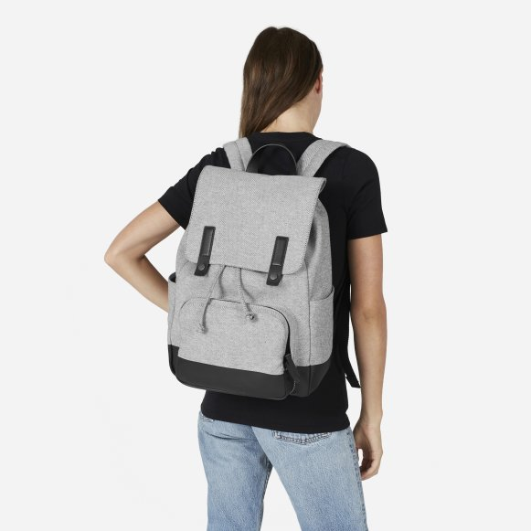 3d996546da The Modern Snap Backpack in Reverse Denim   Dipped Black