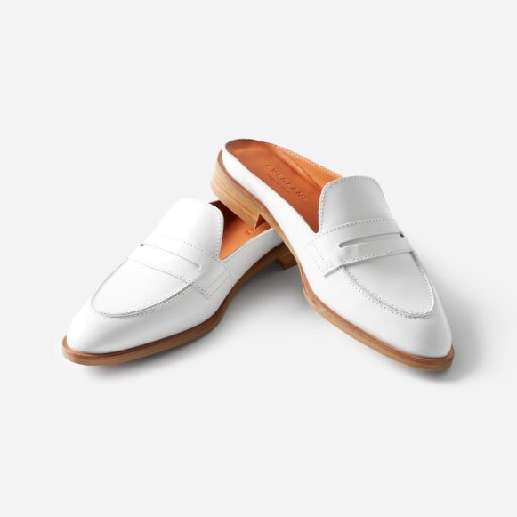 490f56470e0 The Modern Penny Loafer Mule in White