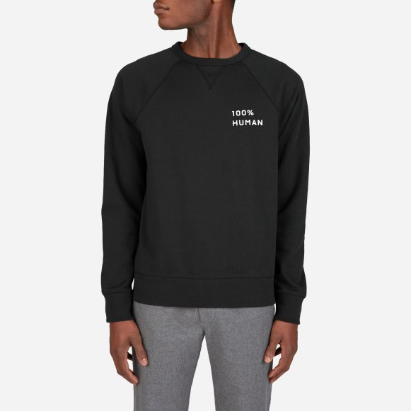1e6fdb194 The 100% Human Unisex French Terry Sweatshirt in Small Print