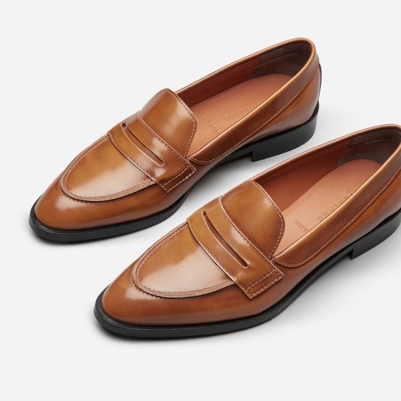 046121bd77d The Modern Penny Loafer in Cognac