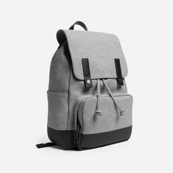 The Modern Snap Backpack in Reverse Denim   Dipped Black 595f3c423bd79
