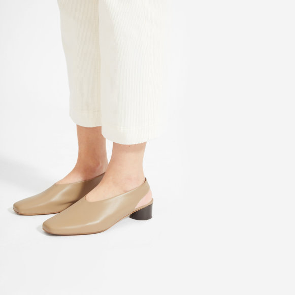 50dc733c8fd The Square Toe Slingback in Light Taupe