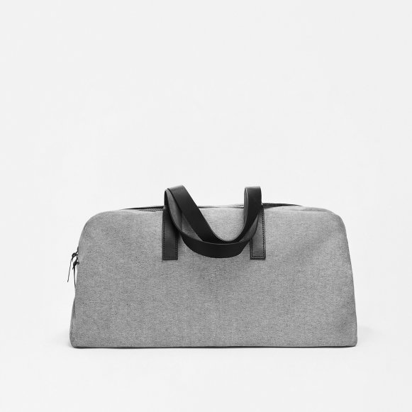 The Twill Weekender in Reverse Denim + Black Leather 1329a5f423a53