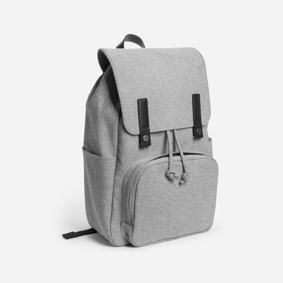 c5a2ab8903 The Modern Snap Backpack in Reverse Denim + Black Leather