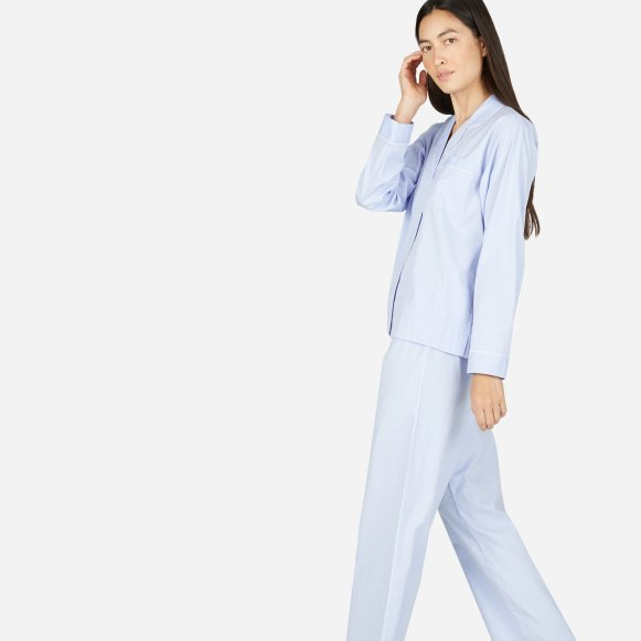 women s oxford pajama shirt everlane