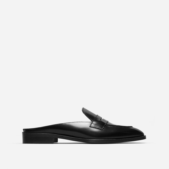 7413ad0960b The Modern Penny Loafer Mule in Black