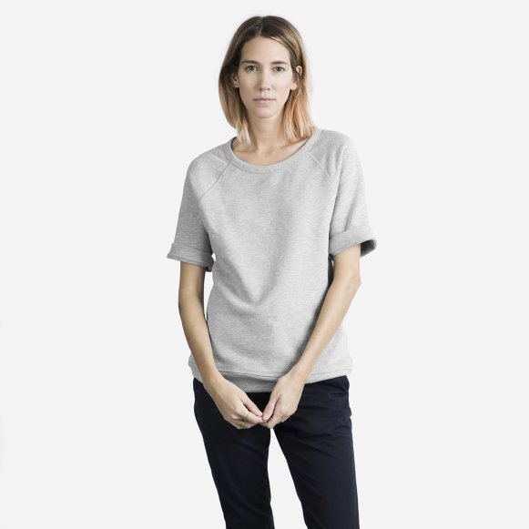 1f20c9a35cfef The Short-Sleeve Sweatshirt in Heather Grey