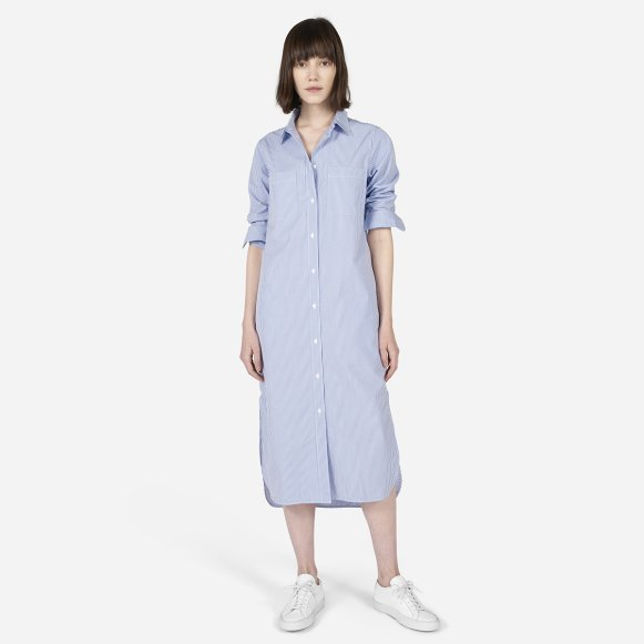 40c0b4a2b Women's Striped Cotton Poplin Shirt Dress | Everlane