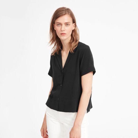 The Clean Silk Short-Sleeve Notch Shirt