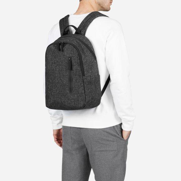 4e59b53238be The Nylon Commuter Backpack in Dark Grey Crosshatch