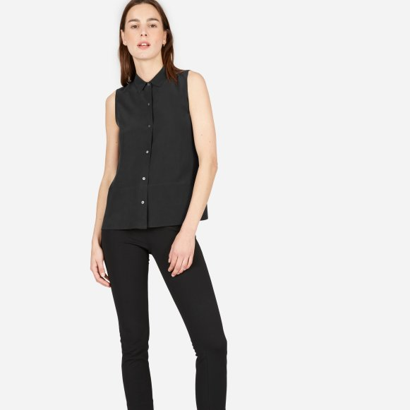 Clothing, Shoes & Accessories Women's Clothing Silk Sleeveless Blouse Customers First