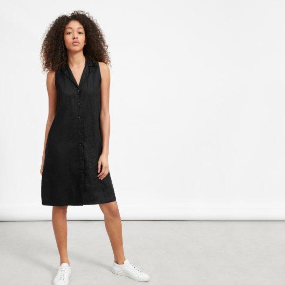 Womens Linen Sleeveless Shirtdress Everlane