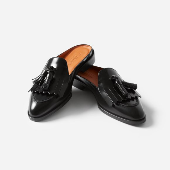 3e287770338 The Modern Tassel Loafer Mule in Black
