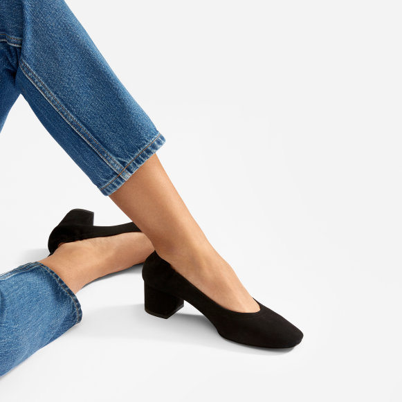 e758aa34d08 The Day Heel in Black Suede