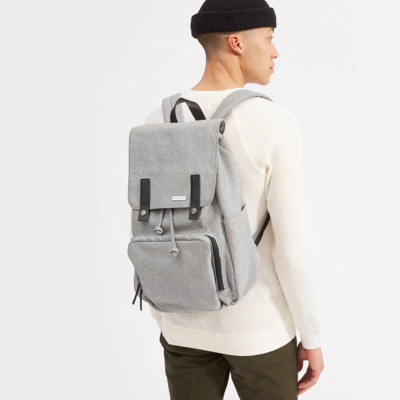 The Modern Snap Backpack in Reverse Denim + Black Leather 2a223f09046f4