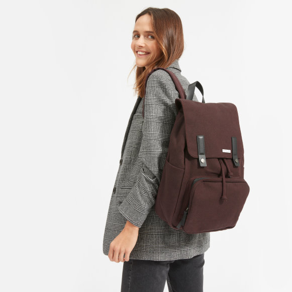 455a2920f7 The Modern Snap Backpack in Port   Black