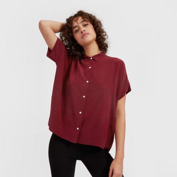Women S Silk Short Sleeve Square Shirt Everlane