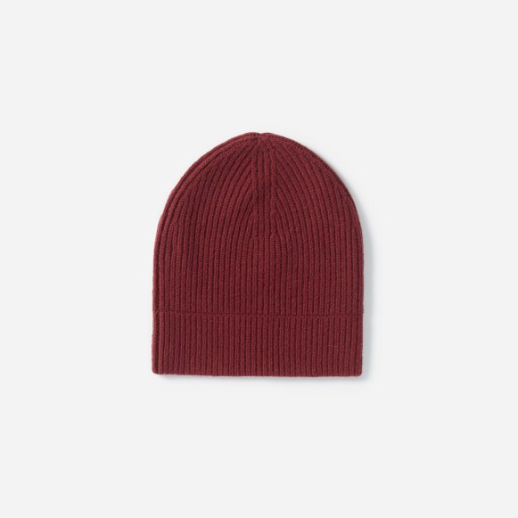5ce343a0b2c The Cashmere Rib Beanie in Burgundy
