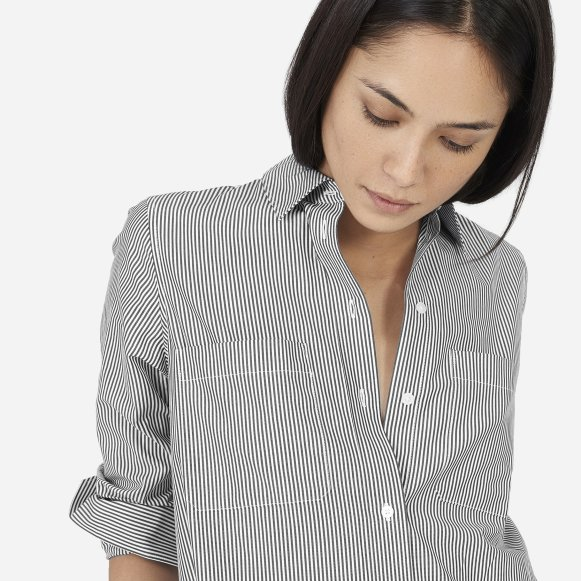 1831d345bd The Striped Cotton Poplin Shirt Dress —  78