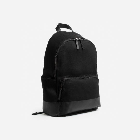 8f0c136e3c The Modern Zip Backpack - Large in Black   Dipped Black