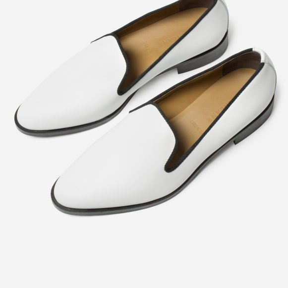 164141d392a The Modern Smoking Loafer in White