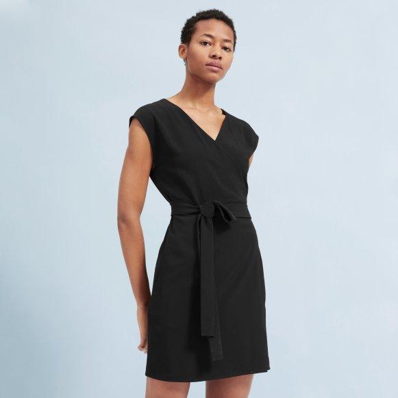 Womens Japanese Goweave Short Sleeve Mini Wrap Dress Everlane