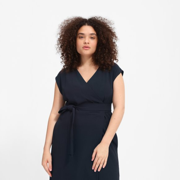 Womens Japanese Goweave Short Sleeve Wrap Dress Everlane