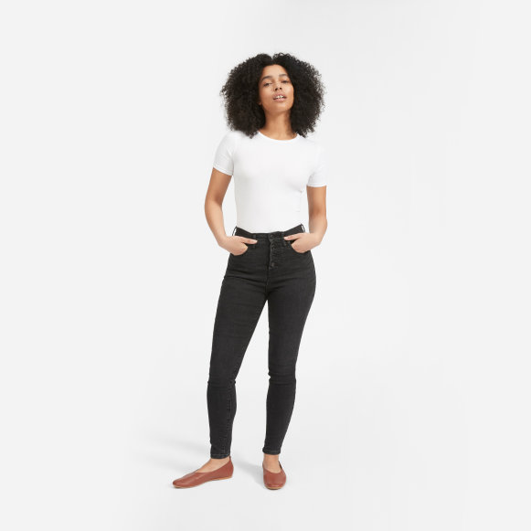 50775e7255c Women's Authentic Stretch High-Rise Skinny Button Fly | Everlane