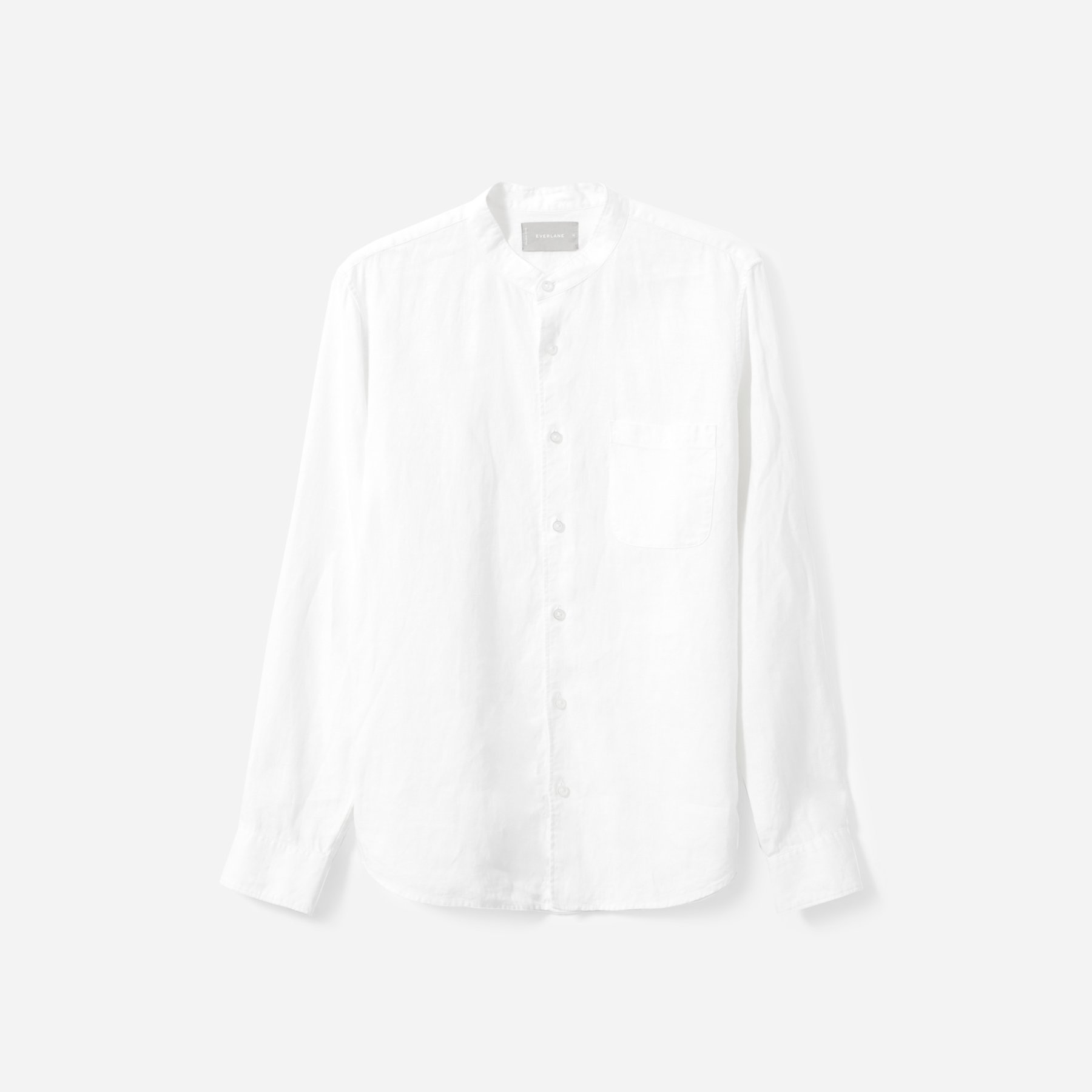 The Linen Band Collar Shirt by Everlane