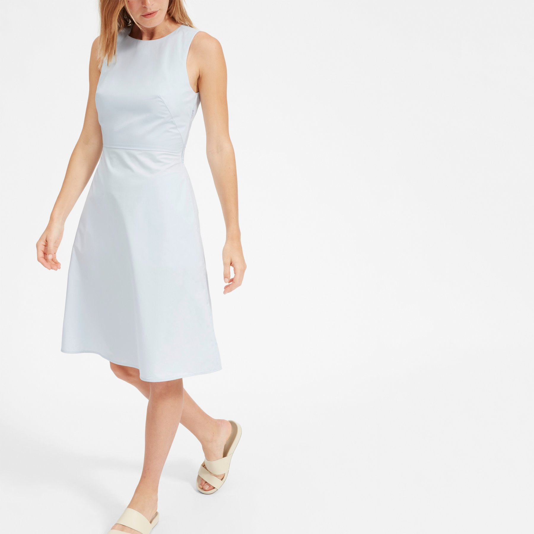 The Clean Cotton Twist Back Dress by Everlane