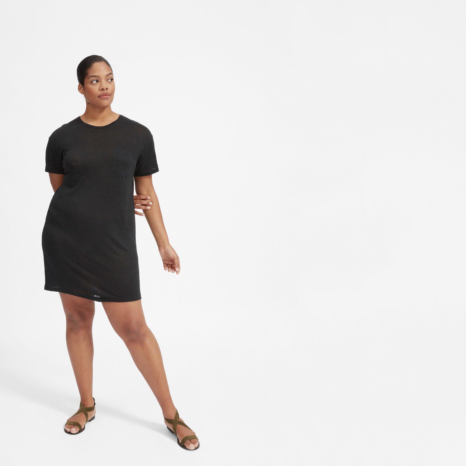The Linen Box Cut Tee Dress by Everlane