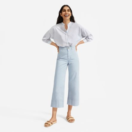 Everlane The Air Collarless Blouse