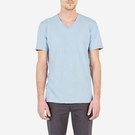 The Cotton V - Blue