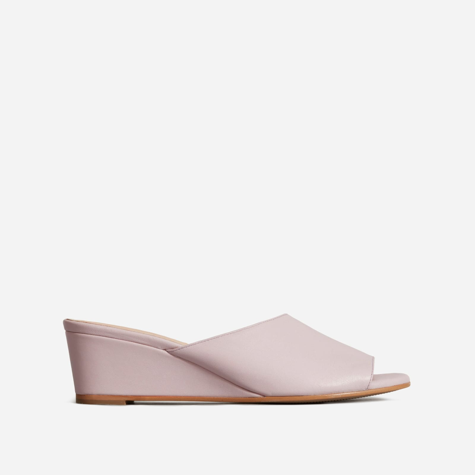 wedge by everlane in lavender, size 8.5