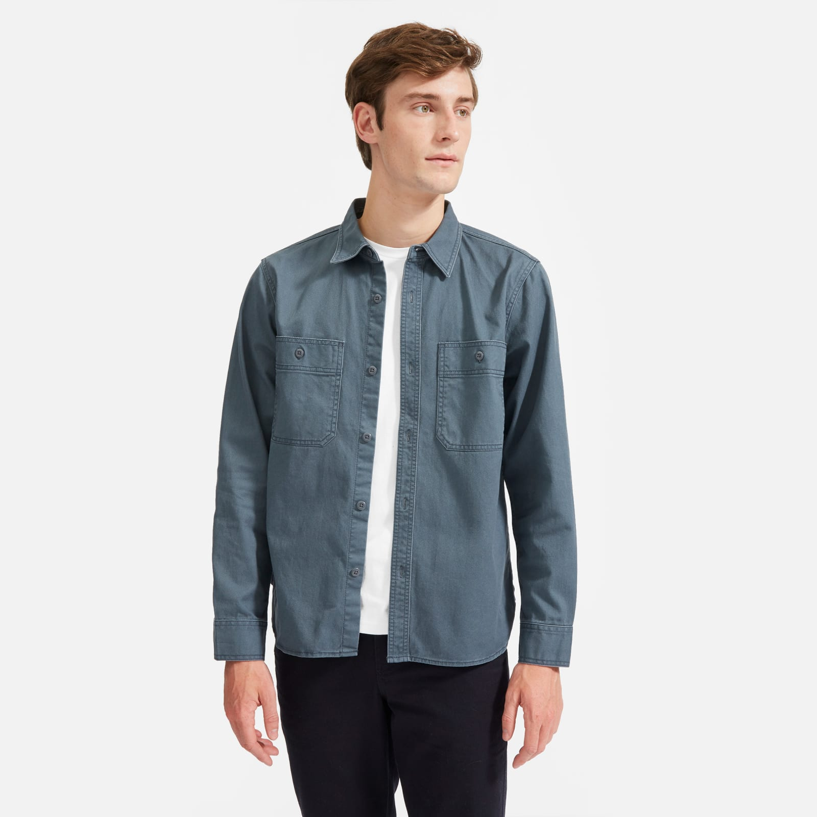 chore overshirt by everlane in slate, size s