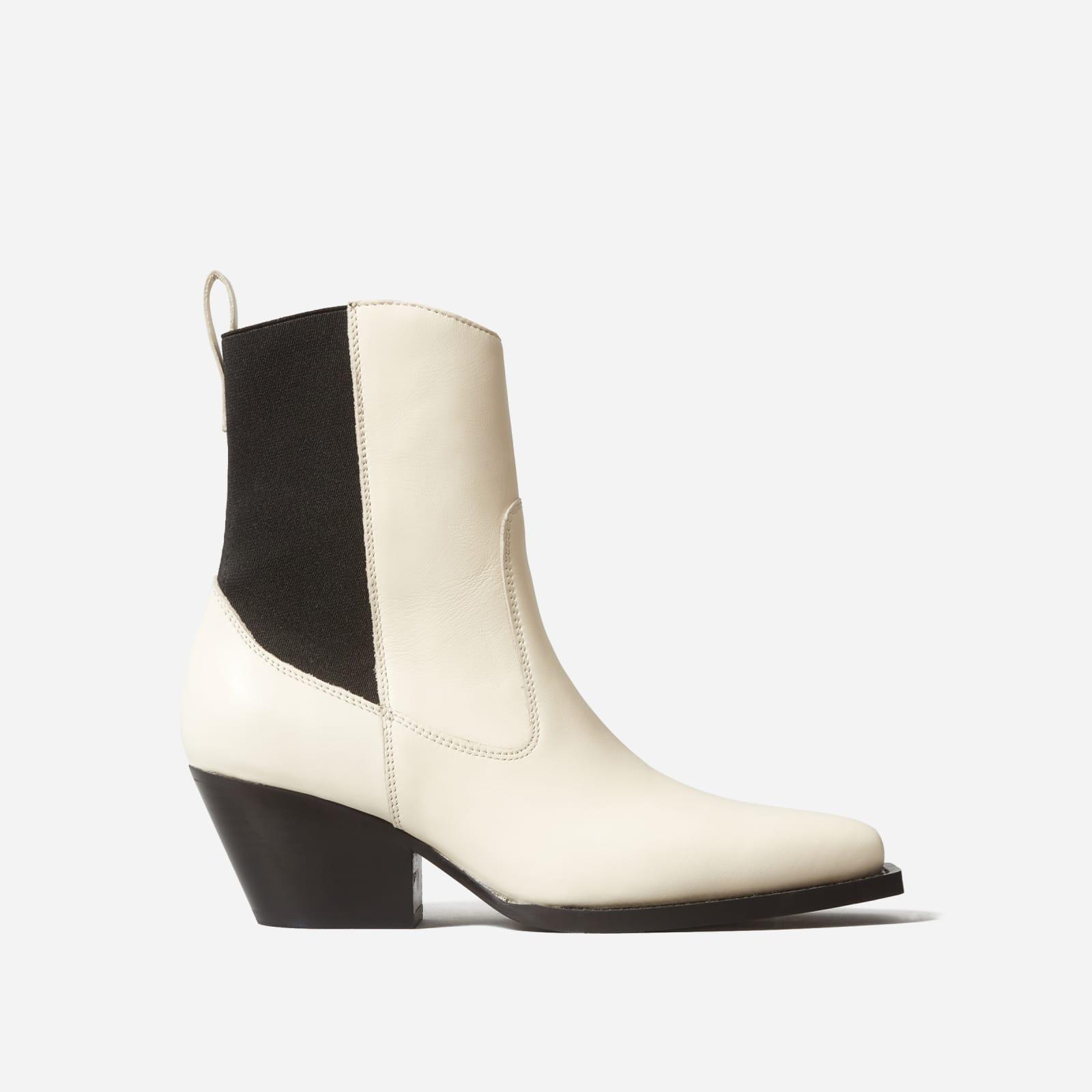 wild western boot by everlane in bone, size 5