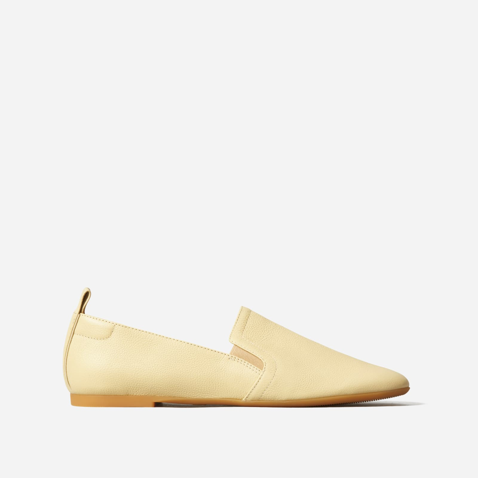leather slip-on by everlane in lemon, size 5