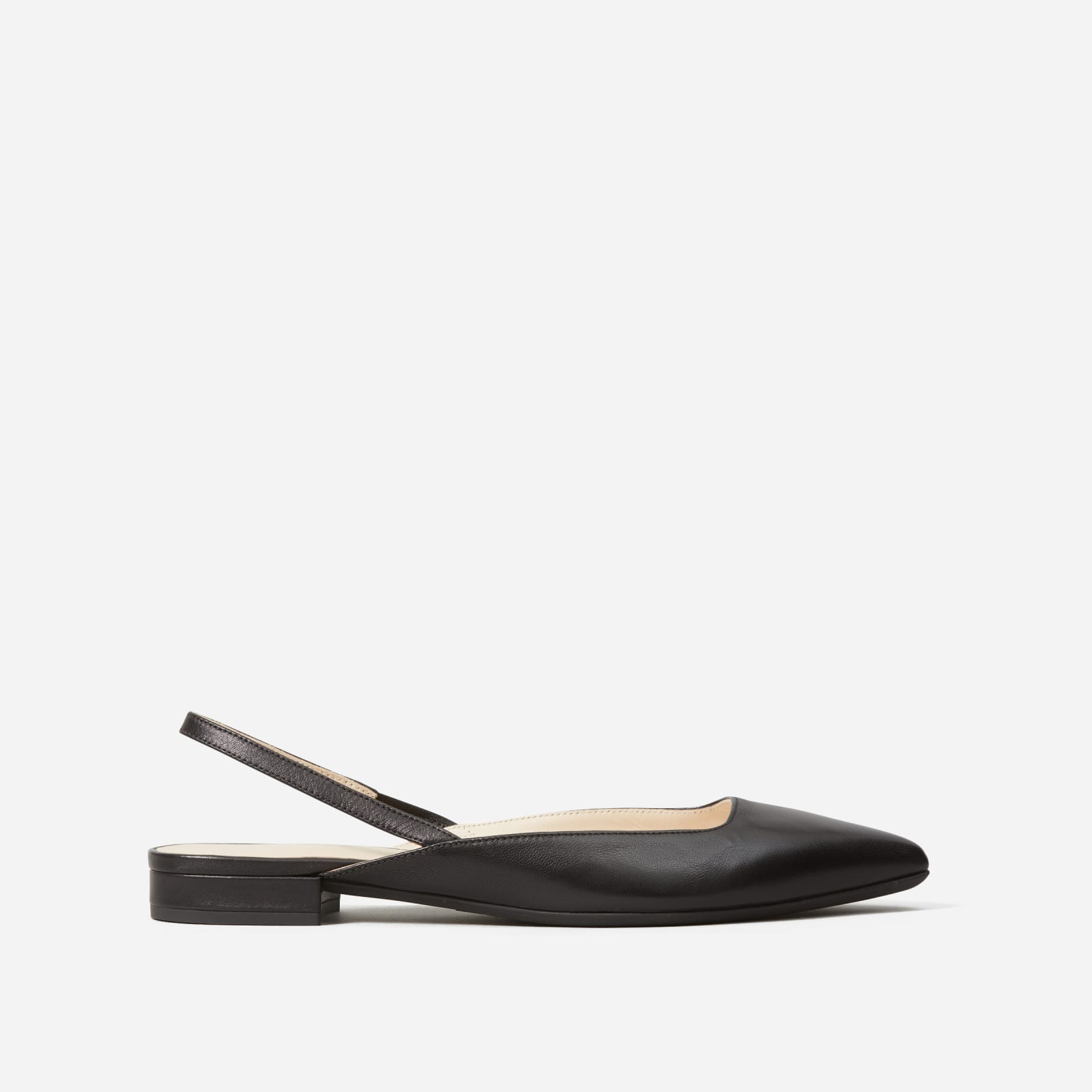 editor slingback by everlane in black, size 5
