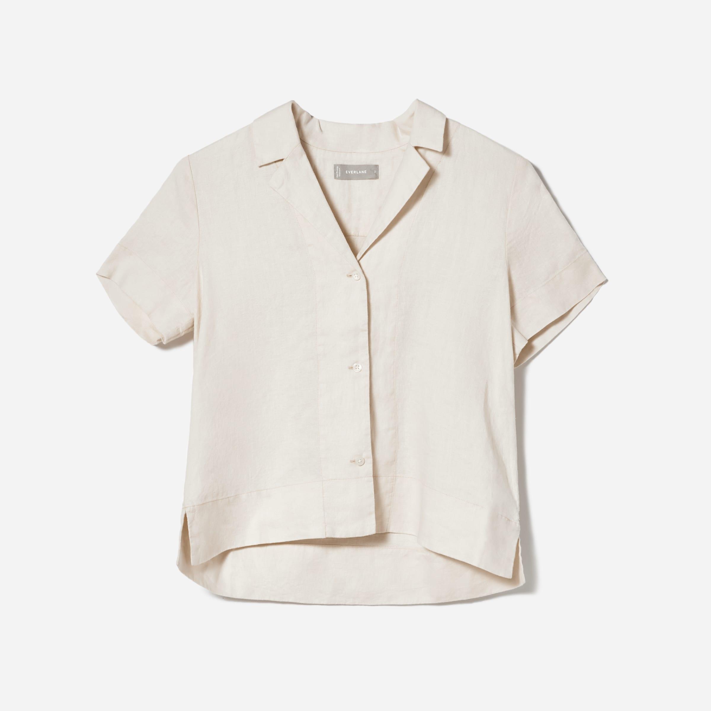 The Linen Notch Short-Sleeve Shirt | Everlane