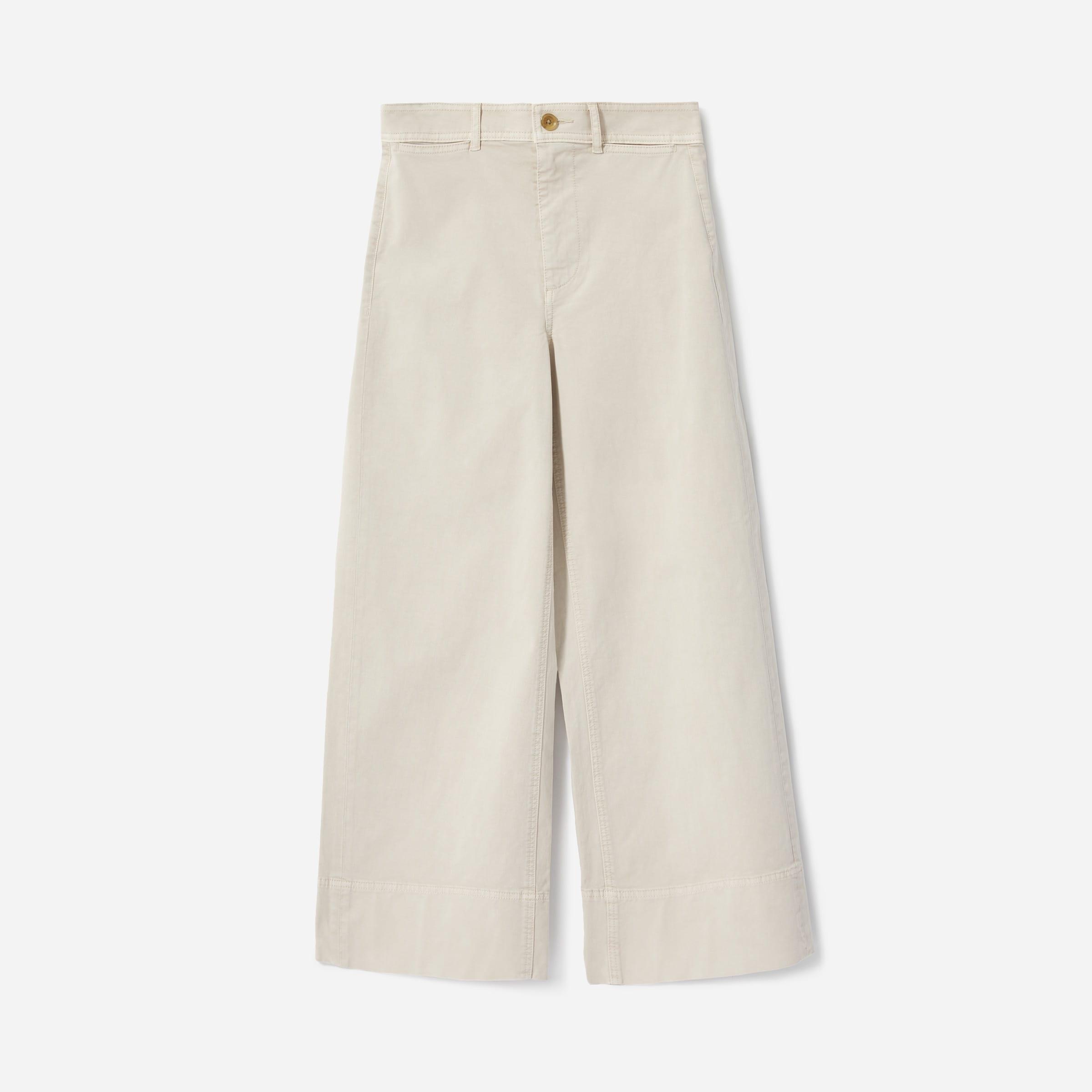 The Lightweight Wide Leg Crop Chino —$72 | Everlane