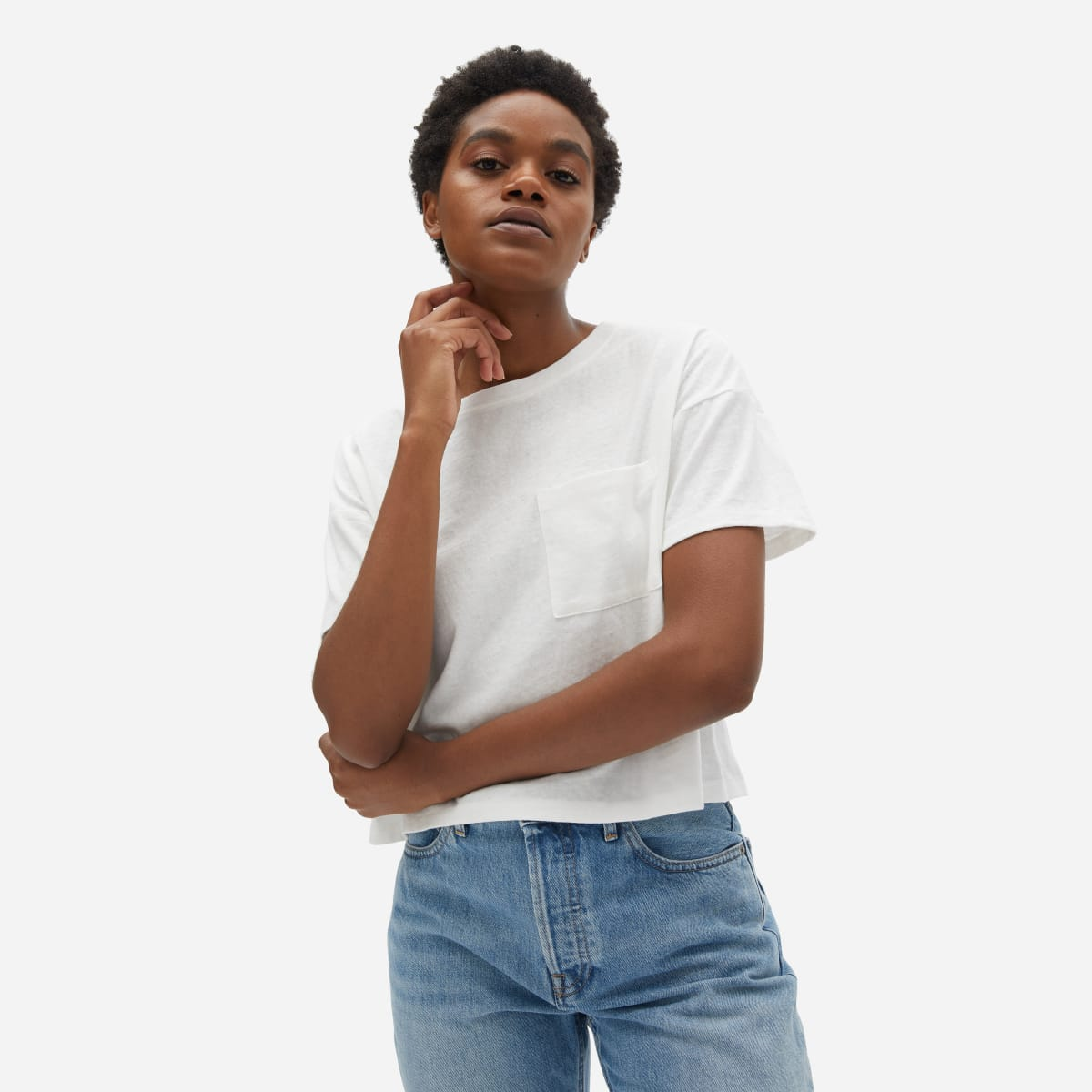 The ReCotton Cropped Pocket Tee | Everlane