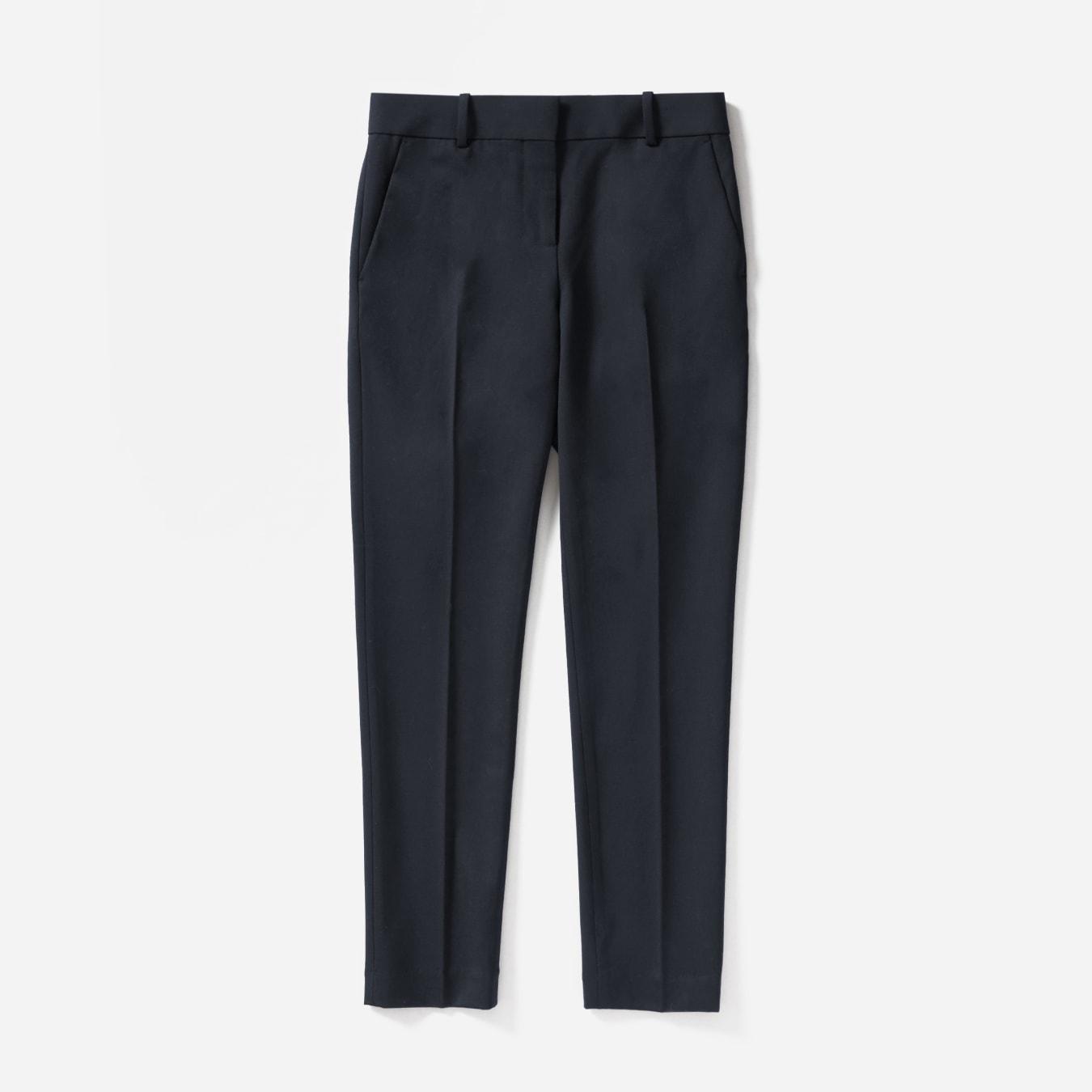 Ladies smart office work wool trousers Black Dark charcoal grey Size 12 16 NEW