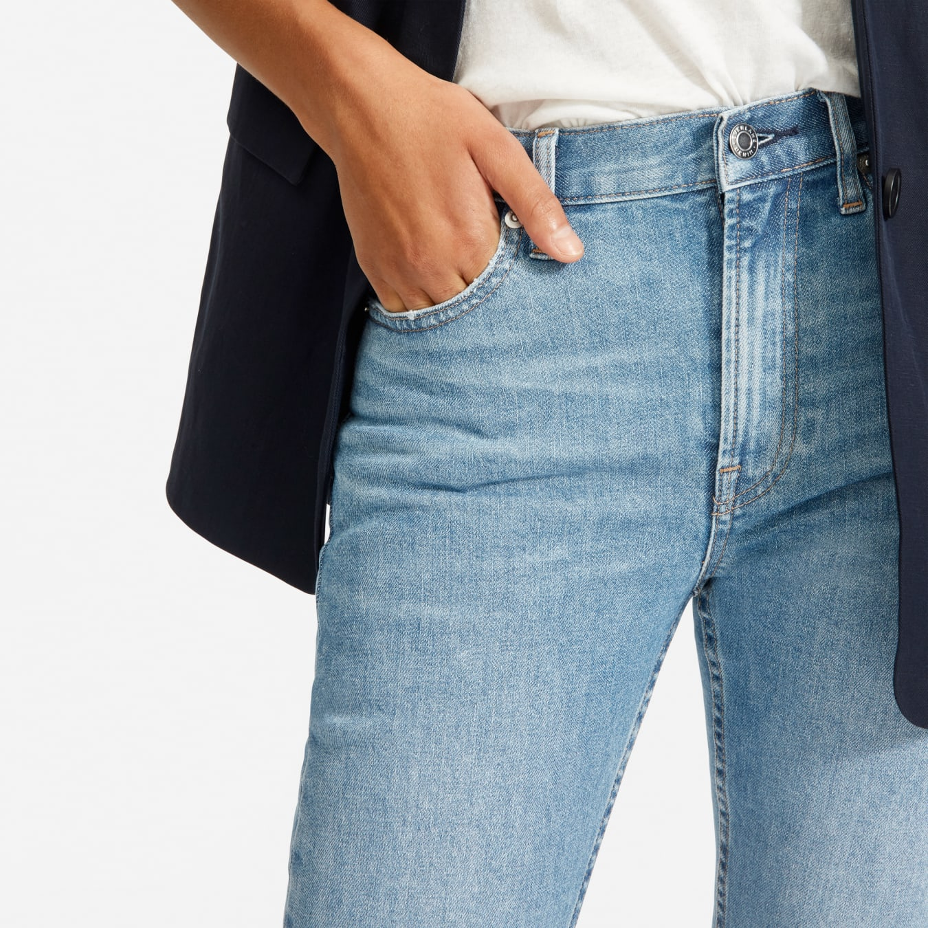 Ladies Dark Indigo Denim Stretch Cotton Kickflare Jean Sz 10 Medium New