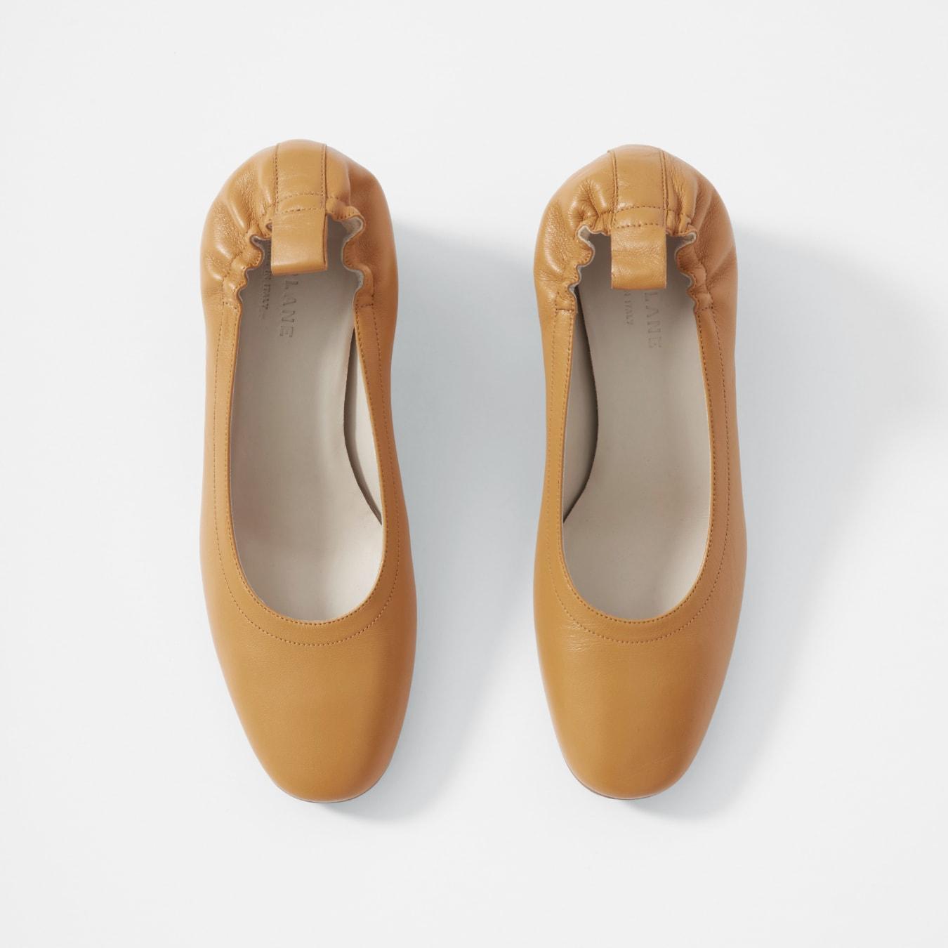 Ladies Yuu Fay Natural Tan Flats Comfort Shoes Sizes 6