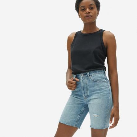 Everlane 90's Cheeky Denim Shorts