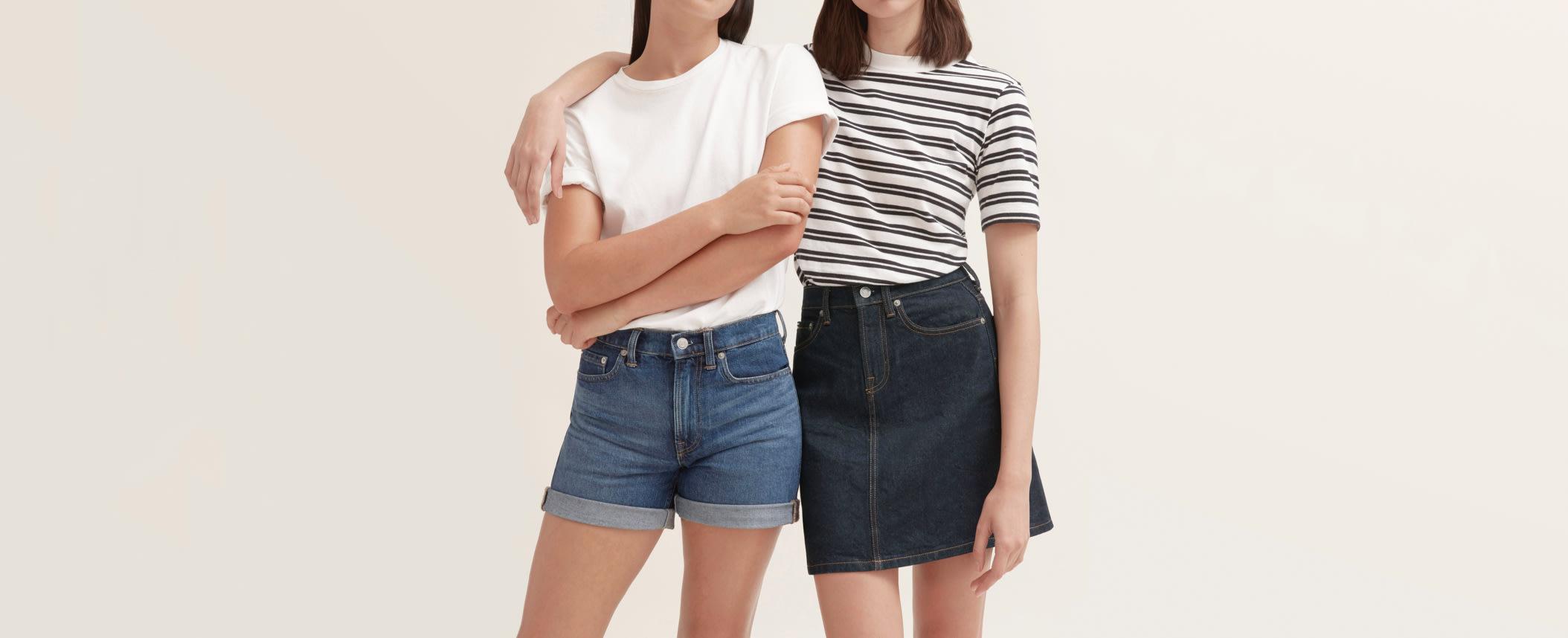 jean skirt girl Japanese